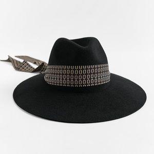 Printed Band Wool Hat